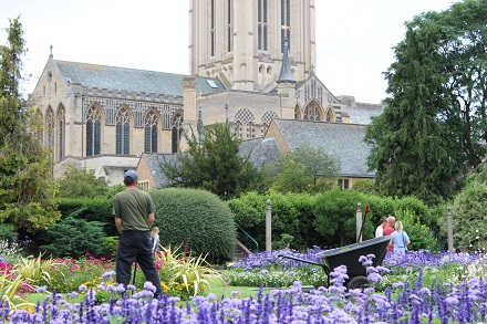 Abbey Gardens garden crew at work