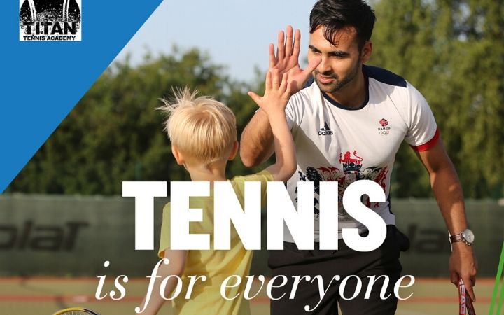 Tennis coaching image